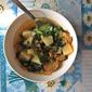"""Vegan """"Sausage"""", Kale, Potato Soup"""