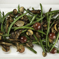 Green Beans, Grapes and Mushrooms in Port Wine Reduction