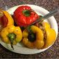 Vegan Roasted Stuffed Peppers