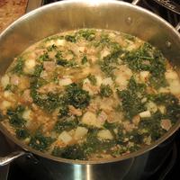 Kristy's Sausage, Potato & Kale Soup