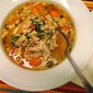 Chicken Barley Soup with Chives