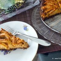 Apple Dulce de Leche Bavarian style cheesecake