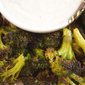 Roasted Broccoli Recipe with Parmesan Black Pepper Cream Sauce