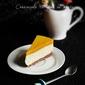 Cheesecake cu jeleu de mango caramelizat