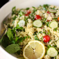 Easy, Healthy Couscous Tabbouleh (and the #happymoments2014 challenge)