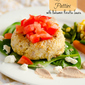 Caprese Quinoa Patties with Balsamic Ricotta Sauce