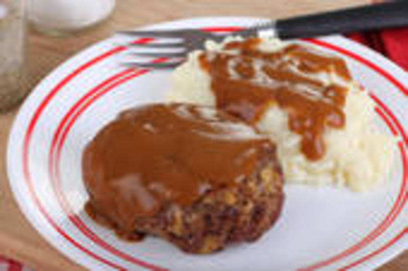 easy hamburger steaks with brown onion gravy recipe by