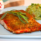 To start or end the week with happiness – Herb and walnut breaded salmon with broccoli salsa