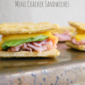 Ham & Cheese Mini Cracker Sandwiches #AppetizerWeek