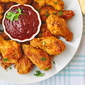 "Oven Baked ""Fried"" Chicken Wings with Honey Molasses Barbeque Sauce"