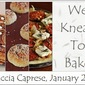 We Knead To Bake #13 : Focaccia Caprese (Focaccia Topped With Tomatoes, Mozarella & Basil)