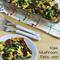 Kale, Mushroom, Feta, and Mozzarella Breakfast Casserole