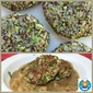 Broccoli & Quinoa Patties w/ Creamy Dill Sauce