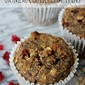 Gluten-Free Whole Grain Oatmeal Cranberry Muffins