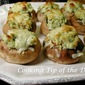 Pesto Cream Cheese Stuffed Mushrooms