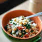 Whole Wheat Orzo with Spinach, Chickpea and Lemon