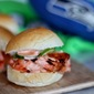 Seahawk Salmon Sliders with Sriracha Mayo