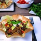 Crock Pot Chipotle Steak Taco Salad Bowls