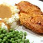 Crispy Oven Fried Chicken with Gravy