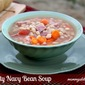 Hearty Navy Bean Soup {Slowcooker Version}