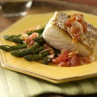 Halibut with Asparagus Provencal