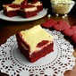Red Velvet White Chocolate Cheesecake Bars