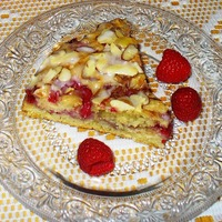 Raspberry Almond Coffee Cake - A treat for Valentine's Day!