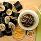 Smoked Salmon Nori Rolls with Wasabi Sauce