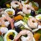 Winter Citrus Salad With Shrimp,Goat Cheese And Beets