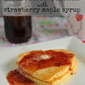 Lemon Ricotta Pancakes with Strawberry Maple Syrup
