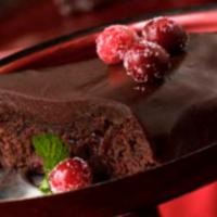 Chocolate Cranberry Fudge Cake