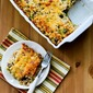 Cheesy Vegetarian Brown Rice Casserole with Broccoli and Mushrooms