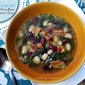 Tuscan Three Bean & Bacon Soup with Kale