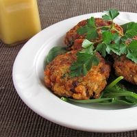 Salmon Cakes with Dijon Vinaigrette