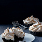Chocolate Cheesecake Coffee Meringue Tarts