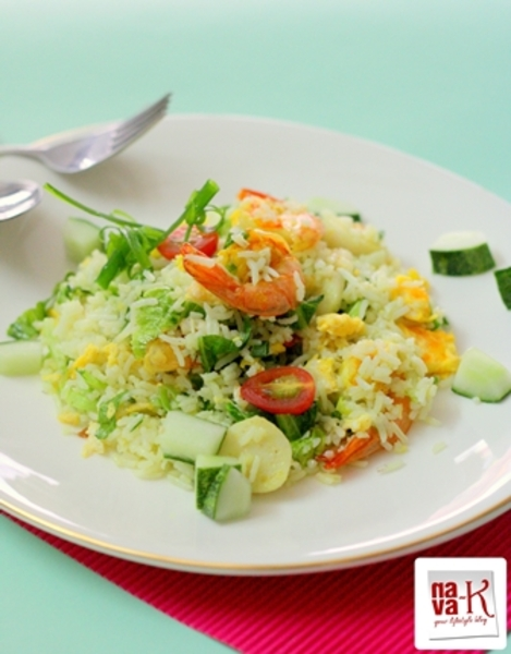 Prawn and fish ball fried rice recipe by navaneetham for Fish and rice recipes