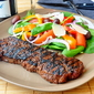 Coffee Chipotle Rubbed Grilled Steak