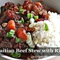 Haitian Beef Stew with Rice