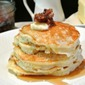Bacon Jam Stuffed Buttermilk Pancakes