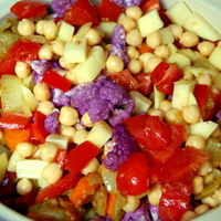 Potato, Cauliflower, and Garbanzo Bean Curry