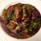 Duck Breasts with Red Wine Sauce and Duck Fat Fried Fingerlings and Mushrooms