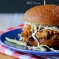 Slow Cooker Pulled Pork with Mirabelle Plum Bourbon Barbecue Sauce {giveaway!}