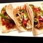 Cod Tacos with Grilled Peppers and Onions