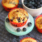 Blueberry Cornmeal Muffin | Cornbread Blueberry Muffins