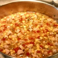 Pork, Corn and Three-Pepper Soup