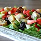 Springtime Salad with White Chocolate Pecan Croutons and Harmon's $250 Gift Card Giveaway!