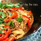 Quick Thai-Style Beef and Peppers with Rice Noodles