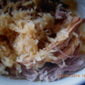 Amish Pork Roast w/ apples and sauerkraut (crockpot)