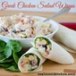 Greek Chicken Salad Wraps