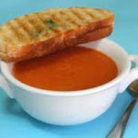 Homemade cream of tomato soup